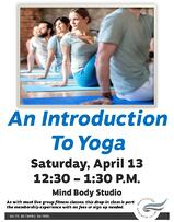 Intro to Yoga April 13th