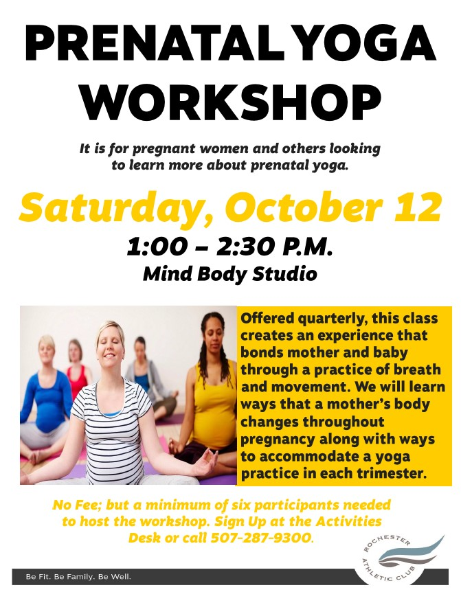 3 - Prenatal Yoga Workshop Fall