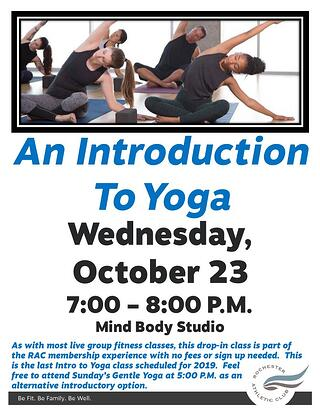 4 - Intro to Yoga October