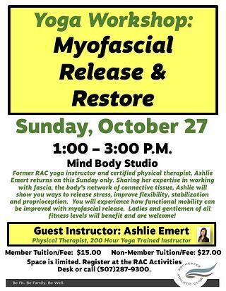 5 - Myofascial Release and Restore Flyer