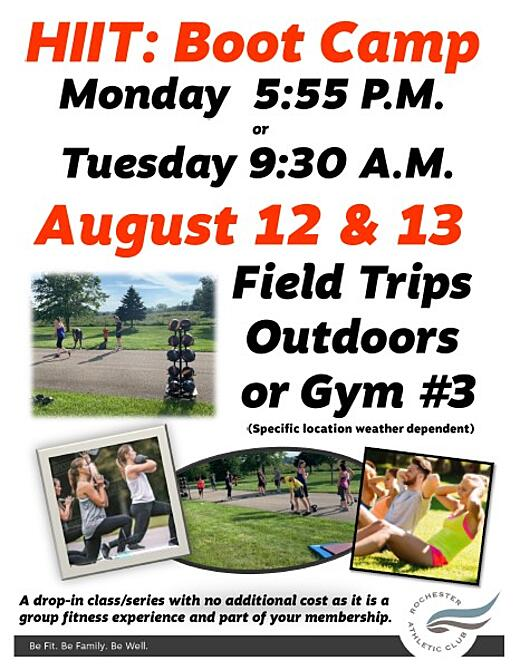 HIIT Boot Camp August 2019