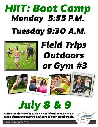 HIIT Boot Camp July 2019