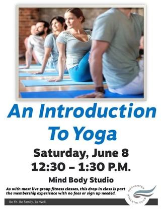 Intro to Yoga Photo