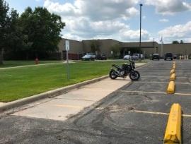 Motorcycle Parking Horizontal Parking Photo